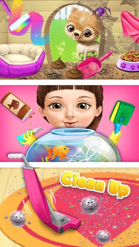 甜美小女孩 打扫截图10