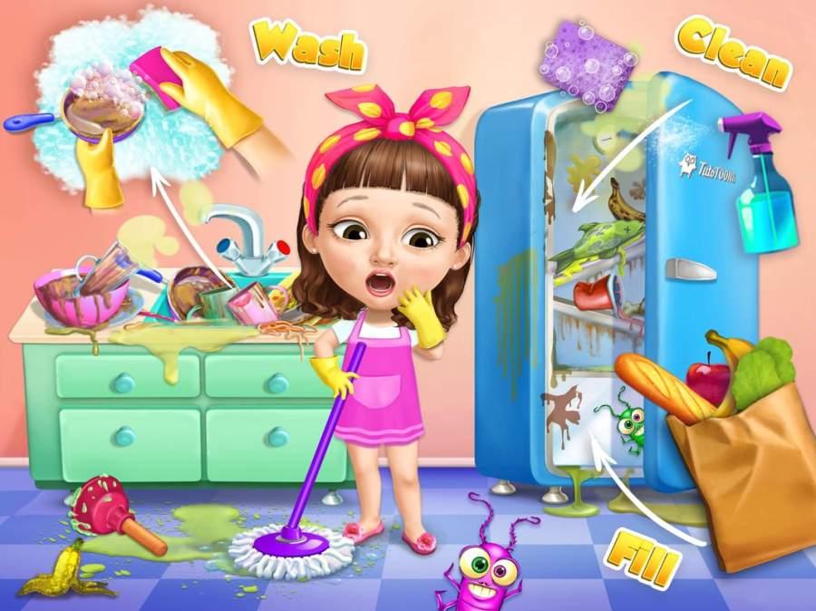 甜美小女孩 打扫截图6