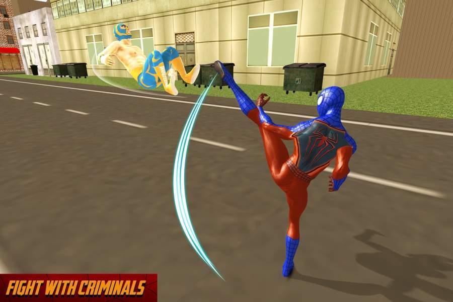 奇怪的蜘蛛豪杰战斗