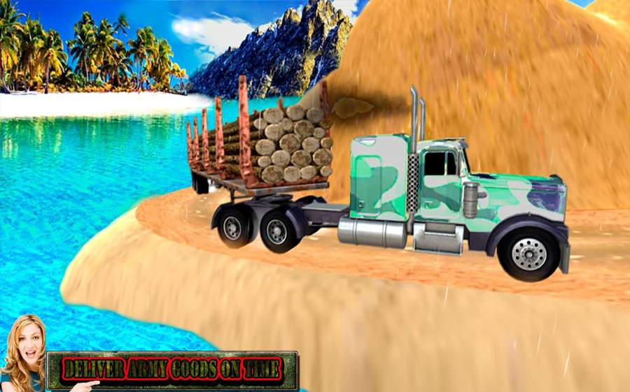 爬坡道 卡车 军事 驾驶 模拟器截图1