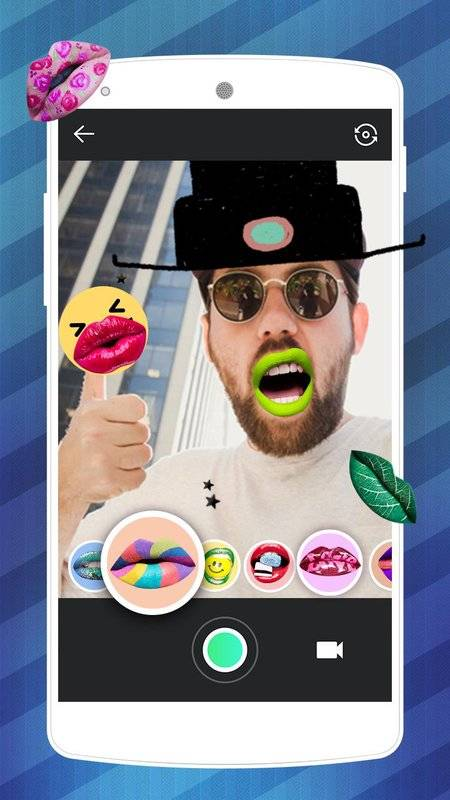 Lips Makeover Camera-Cool&funny Photo Editor截图1