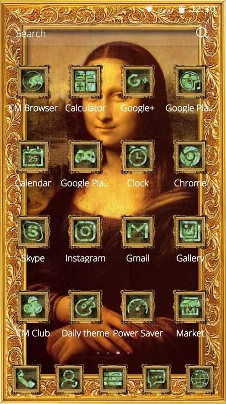 蒙娜丽莎的微笑出自意大利画家达芬奇之手油画著作手机桌面主题截图2