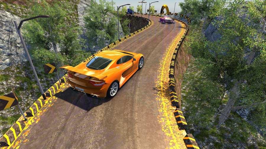 越野汽车驾驶模拟器的3D山