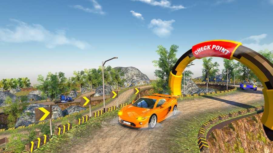 越野汽车驾驶模拟器的3D山截图1