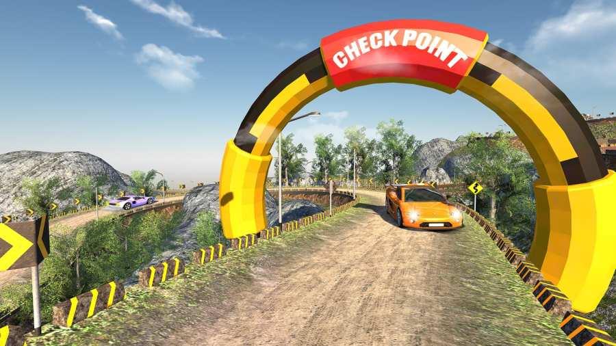 越野汽车驾驶模拟器的3D山截图2