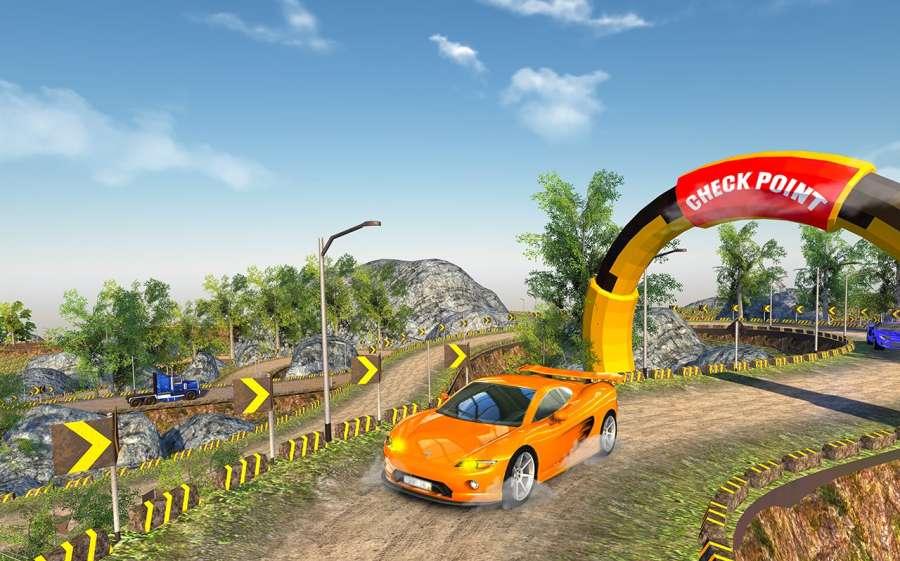 越野汽车驾驶模拟器的3D山截图3