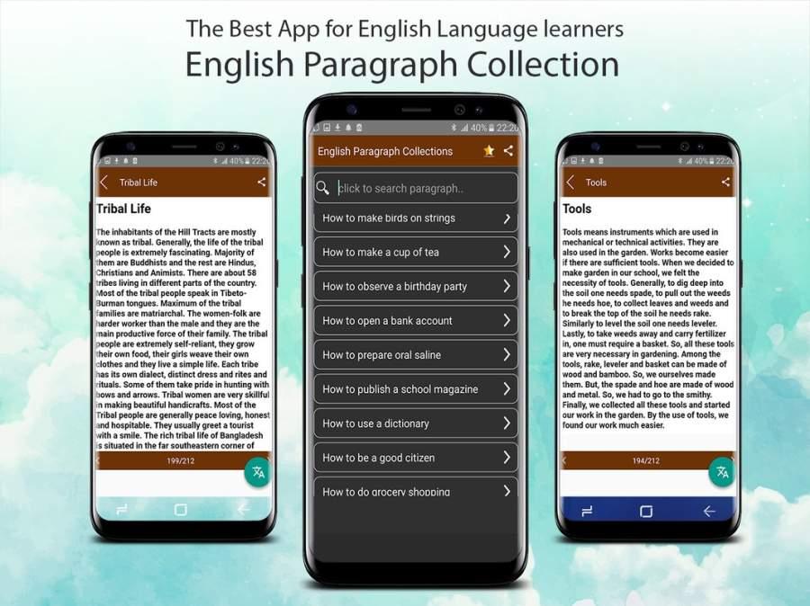 英文段落为学生。技能在写作,口语和听力