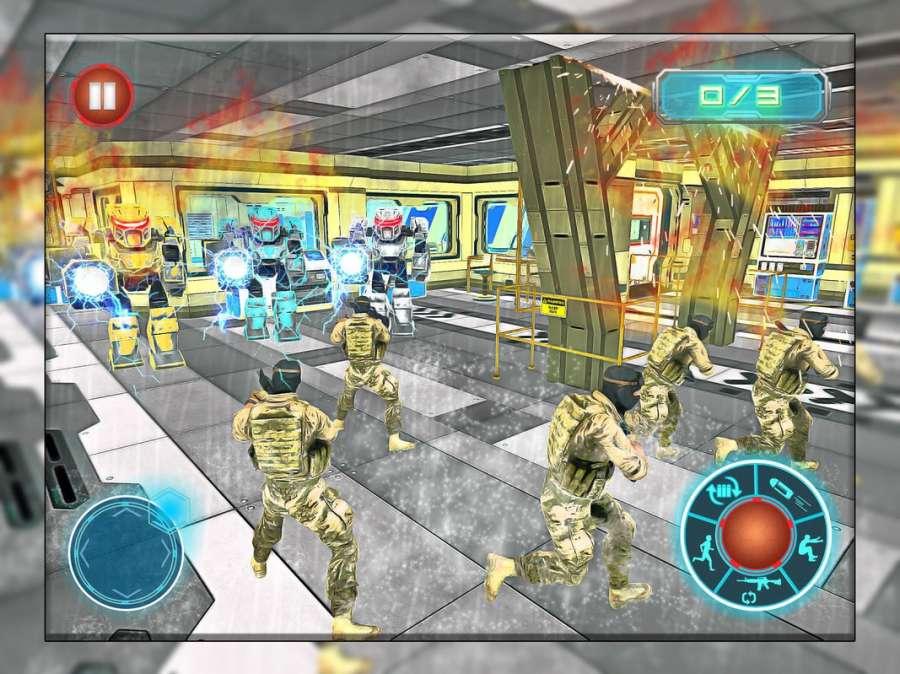 机器人战争未来派战斗 - 机器人生存