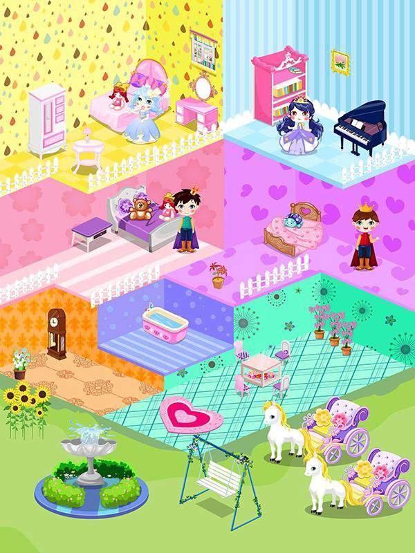 可爱娃娃屋设计-布置装潢儿童小房间游戏