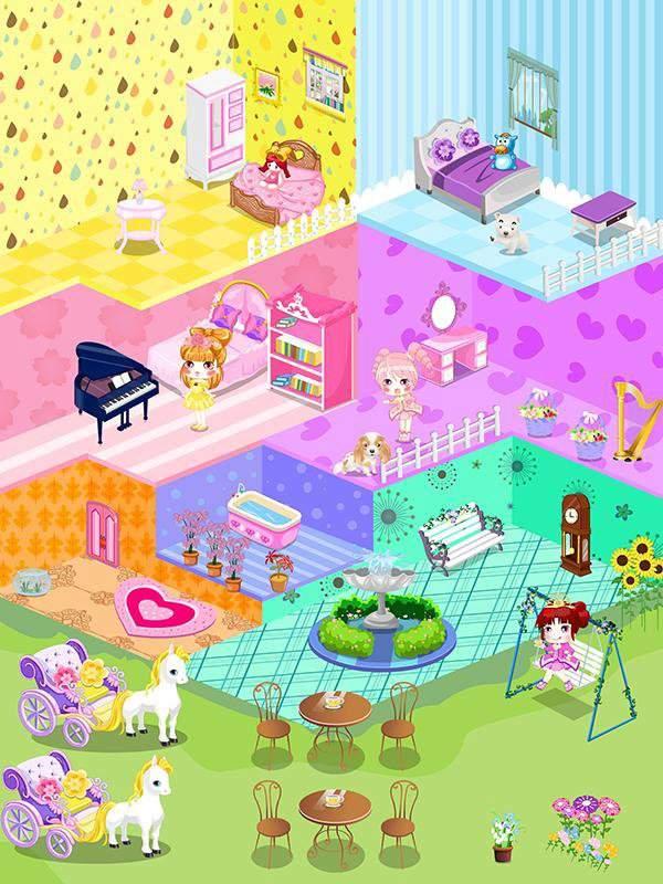 可爱娃娃屋设计-布置装潢儿童小房间游戏截图1