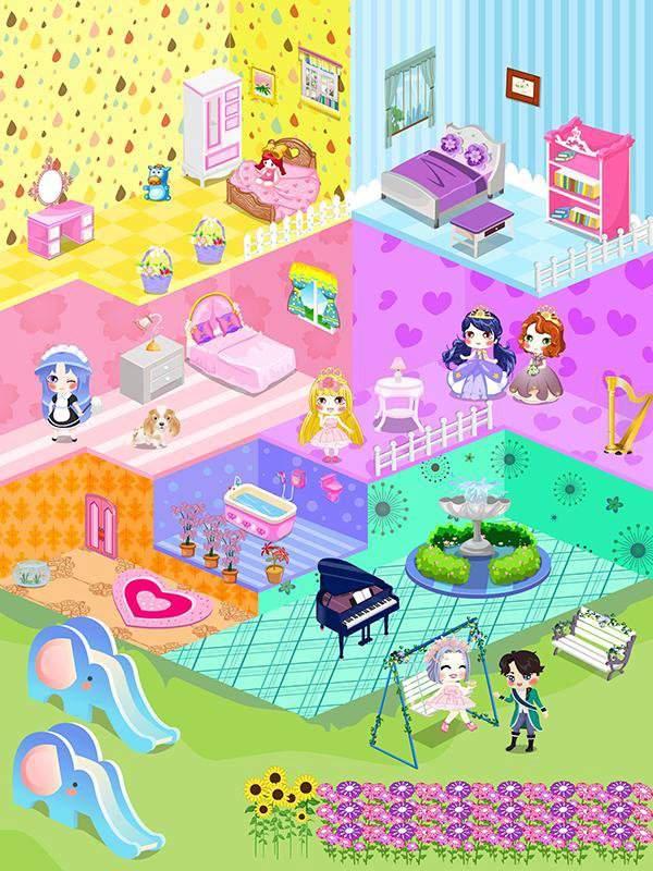可爱娃娃屋设计-布置装潢儿童小房间游戏截图2