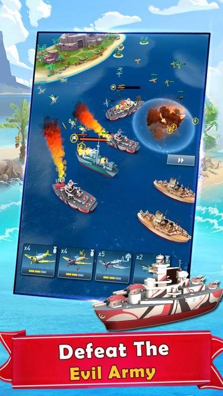 海岛的纷争:战舰冲突,最新动作射击海战游戏截图1