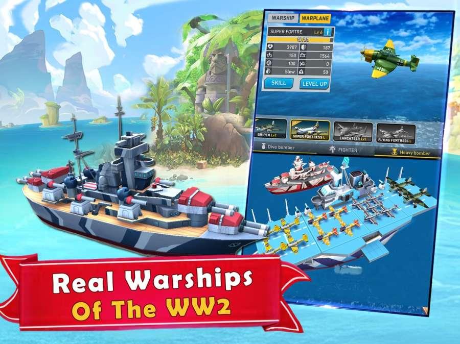海岛的纷争:战舰冲突,最新动作射击海战游戏截图2