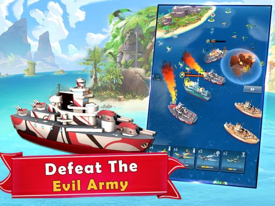 海岛的纷争:战舰冲突,最新动作射击海战游戏截图5