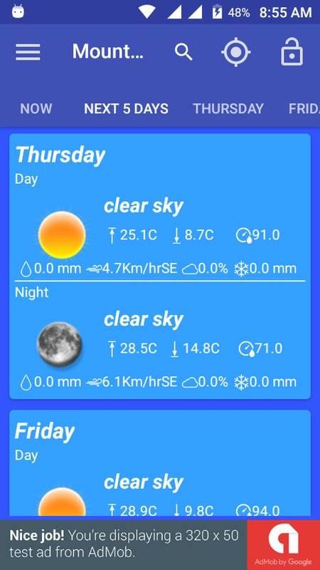 天氣預報和小部件