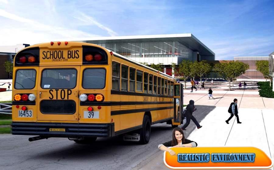 City school bus drive 3D sim截图0