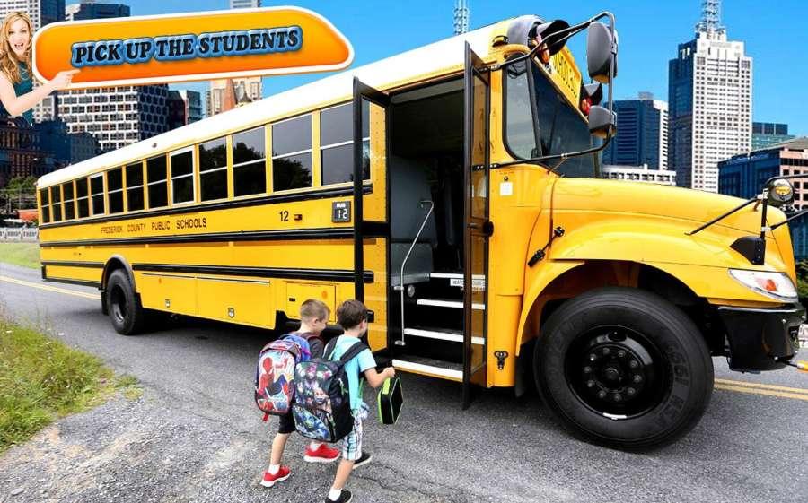 City school bus drive 3D sim截图2