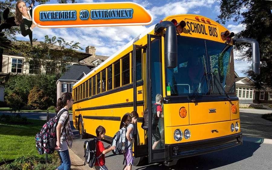 City school bus drive 3D sim截图3