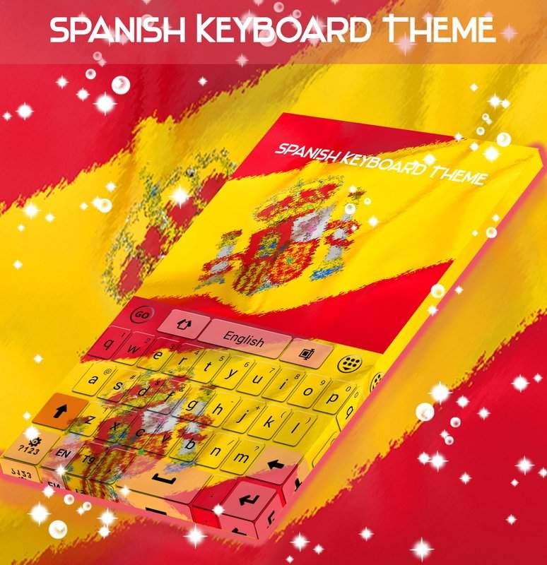 西班牙语键盘主题截图2