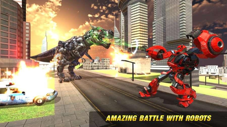 机器人恐龙未来转型城市大战
