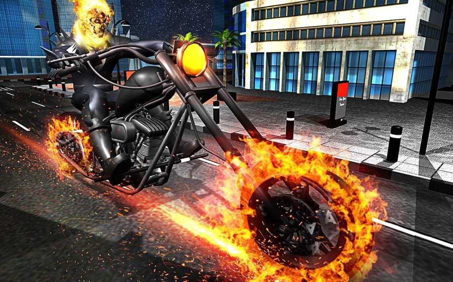 Ghost Bike Hero Blaze Fire Skull Rider Battle截图1
