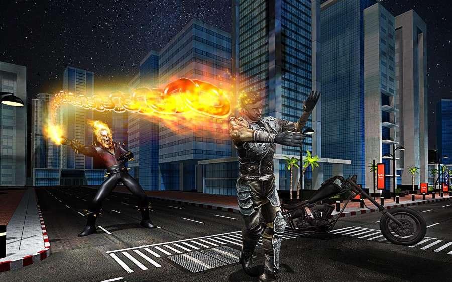 Ghost Bike Hero Blaze Fire Skull Rider Battle截图2