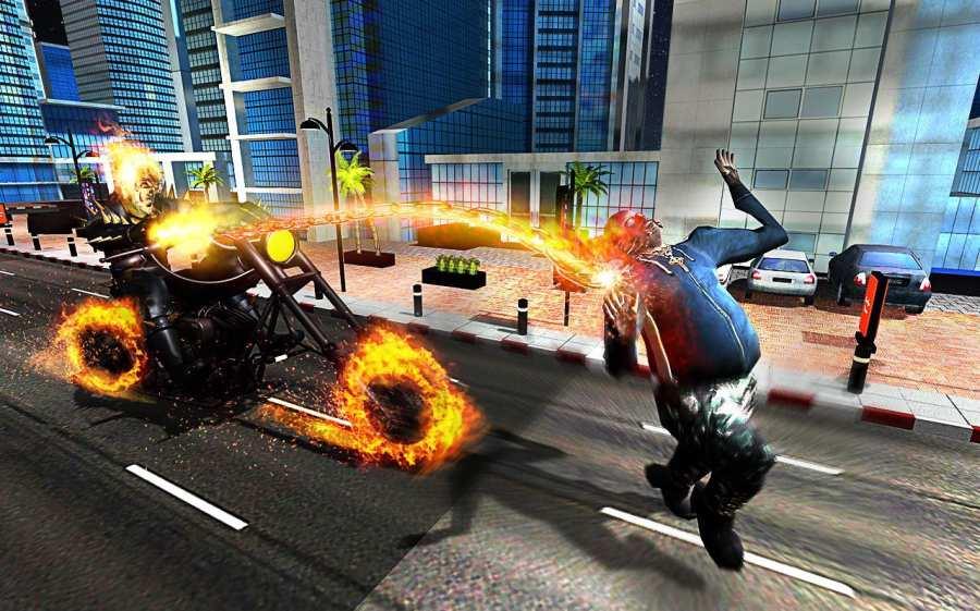 Ghost Bike Hero Blaze Fire Skull Rider Battle截图3