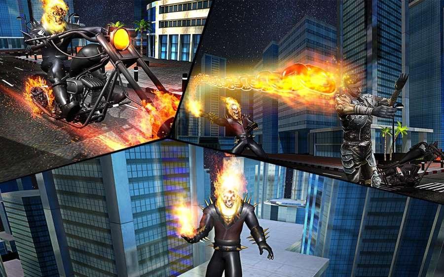 Ghost Bike Hero Blaze Fire Skull Rider Battle截图4