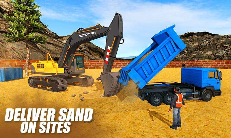 重型挖掘机起重机 - 砂挖掘机3D截图6