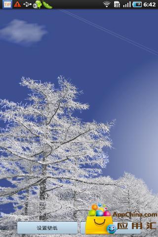 冬日飘雪动态壁纸