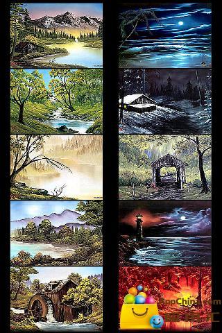 油画风景壁纸