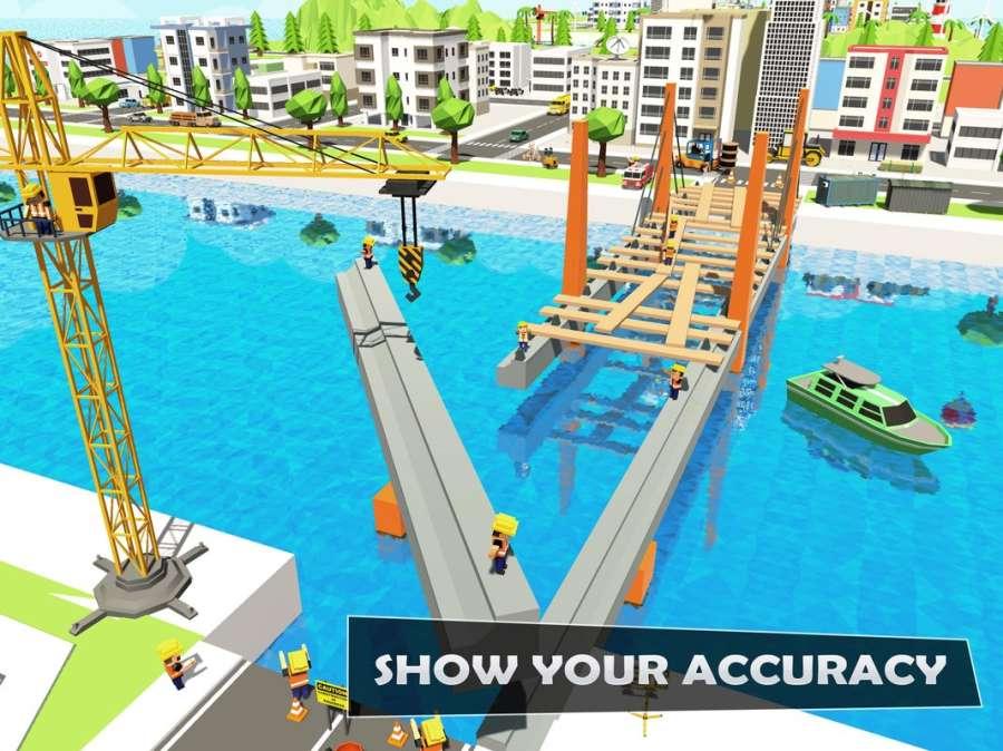 桥梁建设者河道:独特的道路建设者截图0