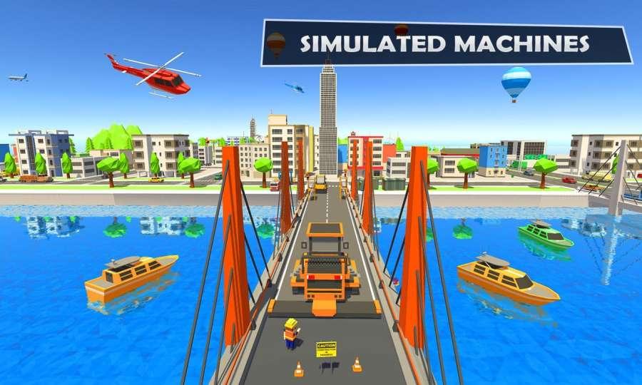 桥梁建设者河道:独特的道路建设者截图2