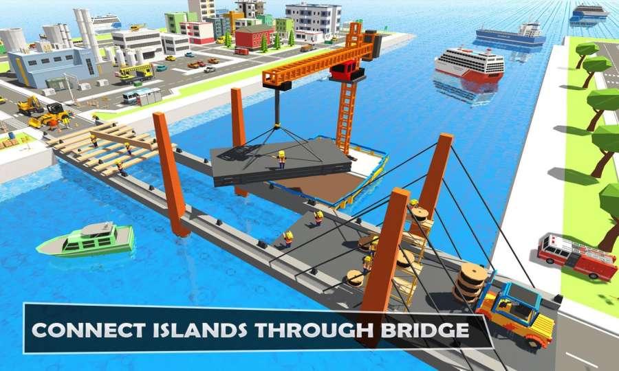 桥梁建设者河道:独特的道路建设者截图4
