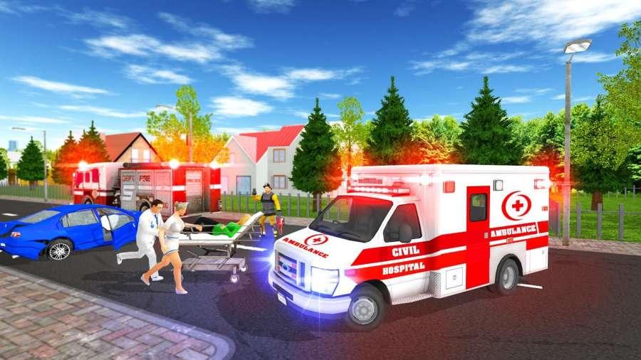 救护车停车救援车