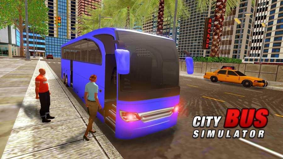 城市巴士司机模拟器2017  -  Pro Coach赛车截图0