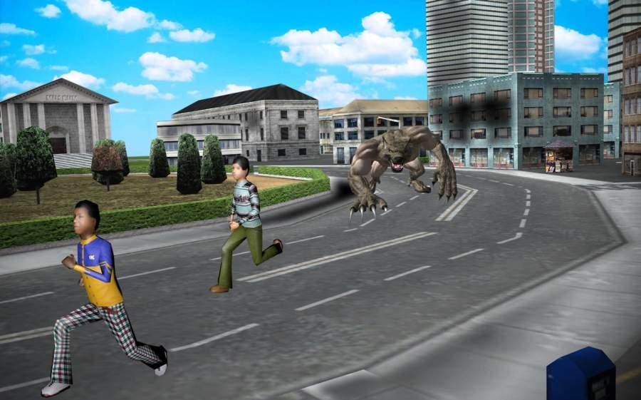 WereWolf攻击:城市生存模拟器3D
