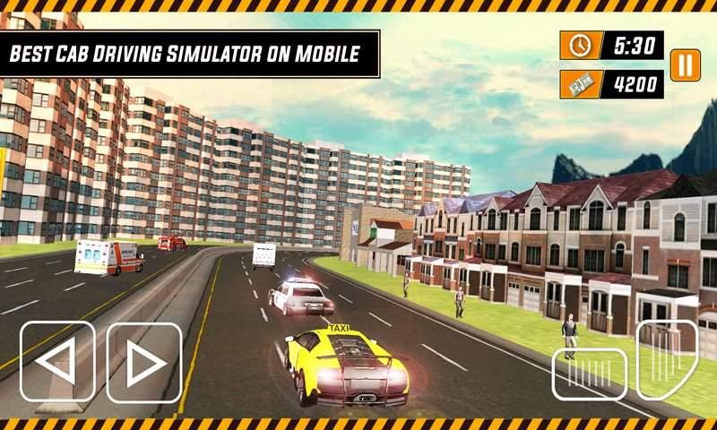 城市出租车模拟器3D - 现代驾驶游戏2017截图1