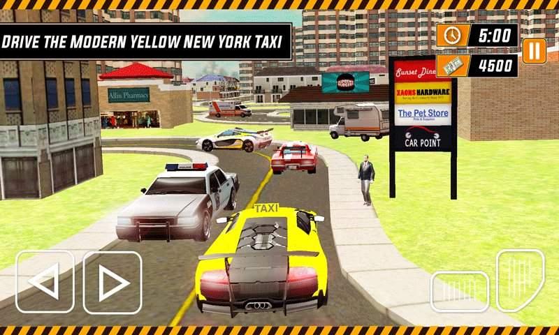 城市出租车模拟器3D - 现代驾驶游戏2017截图8