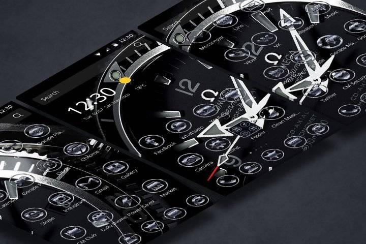 豪华时尚男人腕表主题和唯美闪烁名贵手表壁纸暗色图标