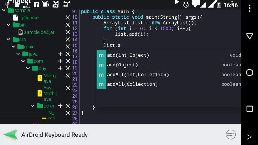 Java N-IDE - Java Compiler for Android截图0
