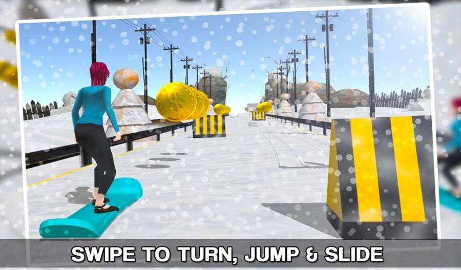 滑雪板自由式滑雪3D