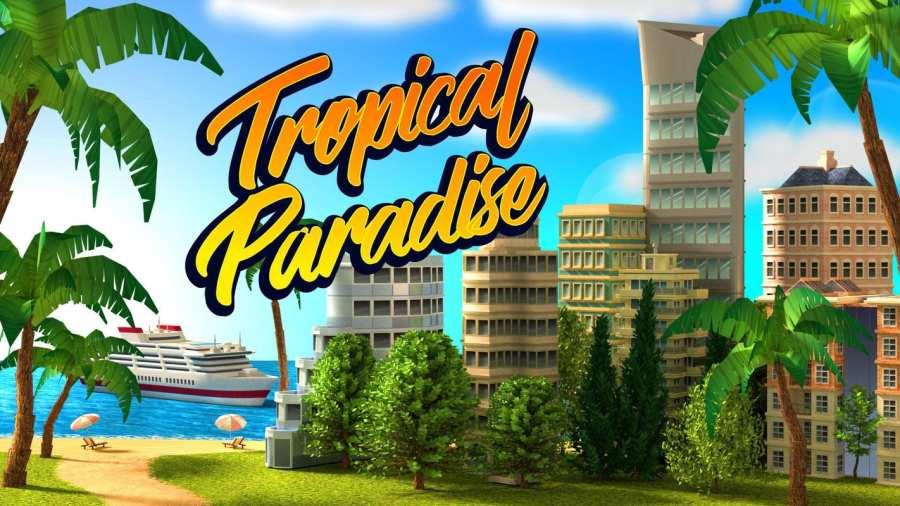 热带天堂:小镇岛 - 城市建造模拟游戏截图1