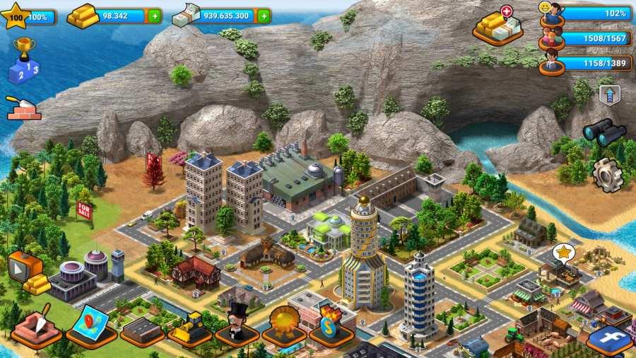 热带天堂:小镇岛 - 城市建造模拟游戏截图2