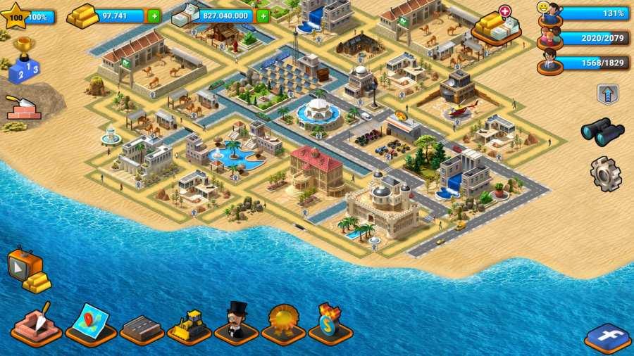 热带天堂:小镇岛 - 城市建造模拟游戏截图3