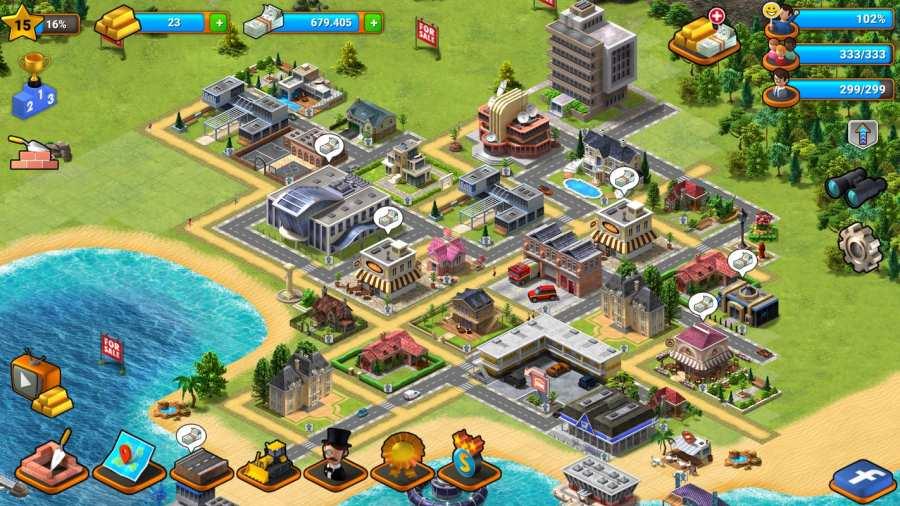热带天堂:小镇岛 - 城市建造模拟游戏截图4