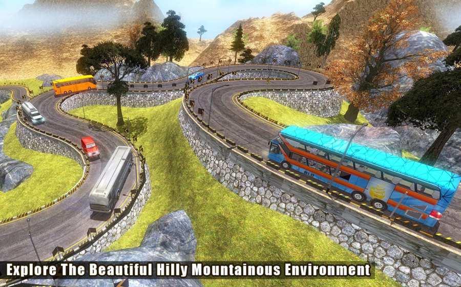 越野巴士模拟器3D:旅游巴士截图1