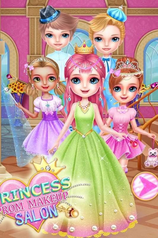 公主舞會化妝沙龍 - 頂級女孩遊戲截图1
