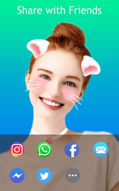 JustShot - AR Selfie camera,Motion Face sticker截图1