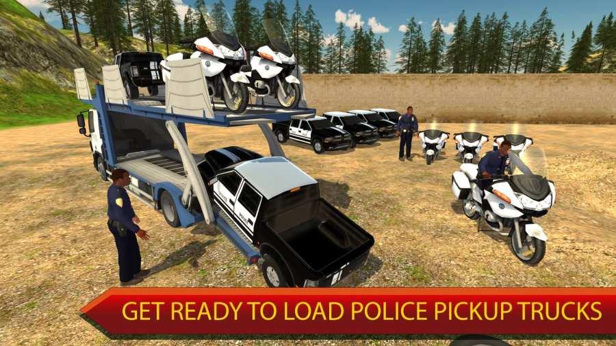 越野警察卡车运输模拟器截图1